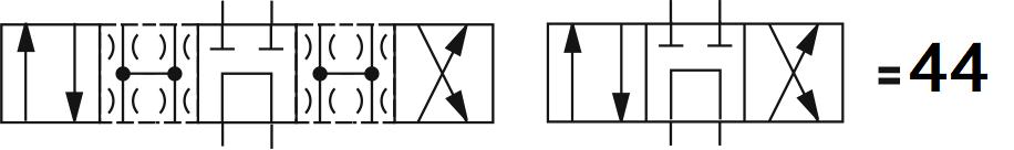 Гидрораспределитель Aron (Арон) AD5E44C, условный проход 10 мм., электромагнитный, золотниковый, дискретный, двухмагнитный